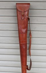 Leather Full Length Two Gun English Style Shotgun Cases