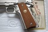 Colt Combat Commander 70 Series Satin Nickel in Box - 12 of 19