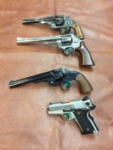Four Gun Lot Smith and Wesson Prototype & Engraved Guns