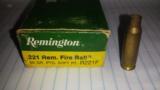 Remington Factory Brass 221 Remington Fireball - 1 of 2