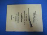 Pre-64 Winchester Model 63 Take-Down Assembly Manual