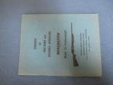Pre-64 Winchester Model 12 Featherweight Take-Down Assembly Manual