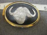 Engraved Cape Buffalo Belt Buckle - 1 of 1