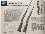 """Near New Winchester Model 67A Boys Rifle, 22 s,l,lr with 20"""" barrel - 15 of 15"""