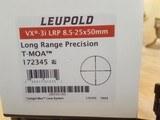 Leupold VX 3i LRP 8.5 - 25 x 50mm, LONG RANGE PRECISION SCOPE. T-MOA TETICLE #172345
