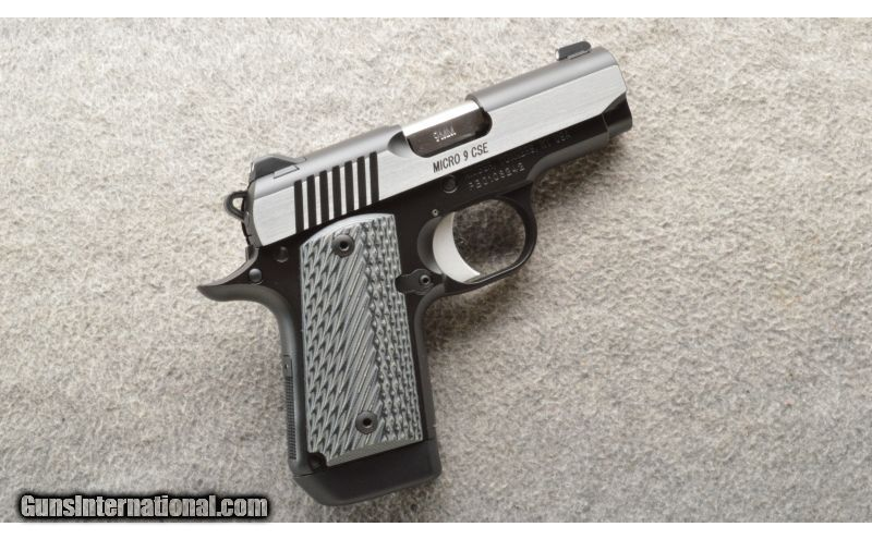 Kimber ~ Micro 9 CSE ~ 9 MM ~ With Case for sale