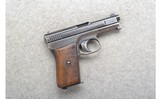 Mauser ~ 1910 Semi-Auto ~ 6.35mm Cal.