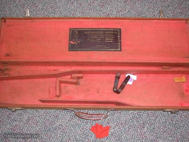 ALEXANDER MARTIN CANVAS COVERED TRUNK SPORTING GUN CASE - 1 of 1
