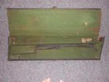 BLACK CANVAS TRUNK SPORTING GUN CASE MARKED E. FLOWER ON LID - 1 of 1