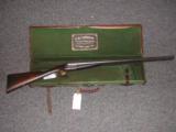 C.B. VAUGHAN 12 BORE SXS SPORTING GUN * CASED IN IT'S ORIGINAL TRUNK CASE W/ VAUGHN LABEL- 1 of 1