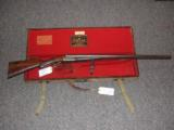W.P. JONES 12 BORE SXS SPORTING GUN * CASED IN IT's ORIGINAL TRUNK CASE WITH JONES LABEL! - 1 of 1