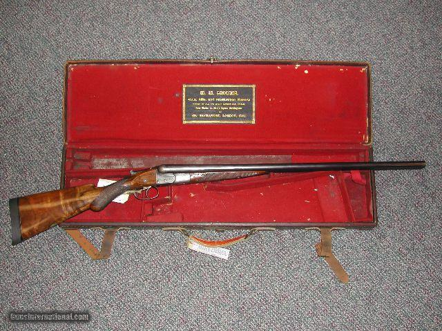 W.W. GREENER 20 BORE F25 GRADE SXS SPORTING GUN * CASED IN IT'S ORIGINAL TRUNK CASE!