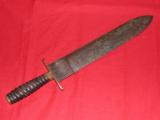CONFEDERATE DOUBLE EDGED McELROY BOWIE KNIFE !