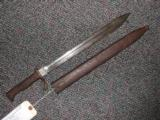 ERFURT MAUSER SAWTOOTH BAYONET WITH SCABBARD