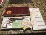 Colt SAA nickel new in the box unfired unturned