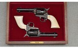 Colt ~ 3rd Generation, Factory Engraved Consecutive Pair SAA ~ .45 Colt