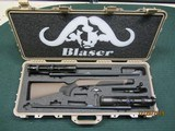 Blaser R8 Savannah two barrel set rifle with scopes and Pelican custom factory case - 1 of 7