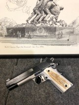 "Sig Sauer Model 1911 TTT Custom Shop .45ACP 5"" Barrel Stainless Steel 1911 Pistol with Custom Genuine Elk Antler grips - 1 of 5"