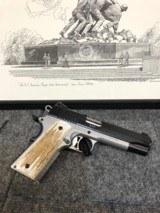 "Sig Sauer Model 1911 TTT Custom Shop .45ACP 5"" Barrel Stainless Steel 1911 Pistol with Custom Genuine Elk Antler grips - 2 of 5"
