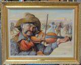 """""""Fiddler"""" by Endre Szabo (American 1922-1991)"""
