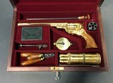 Paten Arms, Inc., Paterson Texas Sesquicentennial gold plated .36 caliber, in presentation box