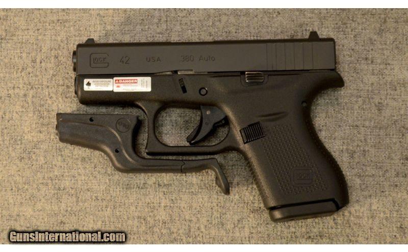 Glock ~ Model 42 ~  380 ACP ~ with Crimson Trace Laserguard