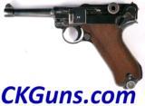 Mauser (Nazi Mauser Banner Polizie) P.08, Ser. 42XX x. Cal. 9mm.
