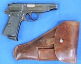 Walther PP, Holster Rig. Pre-War, Very Rare Cal. .22 LR, Ser. 921688 - 1 of 9