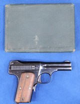 Smith & Wesson Mdl. 1913, Cal 35 S & W , Ser. 2121 Original Box And S&W Factory Letter included. - 7 of 11