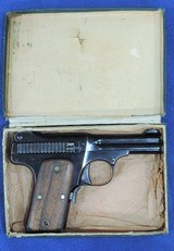 Smith & Wesson Mdl. 1913, Cal 35 S & W , Ser. 2121 Original Box And S&W Factory Letter included. - 8 of 11