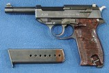 Walther P-38 (Coded ac 45) Cal. 9mm, Frame Ser. 5391 c. *REDUCED*