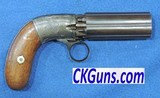 Blunt and Syms Pepperbox, Six Shot, Cal.31 Percussion.