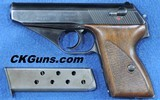 ?Mausers Kreigsmarine Hsc, Cal. .32 ACP, Ser. 7334XX. Beautiful condition for a rare naval pistol.