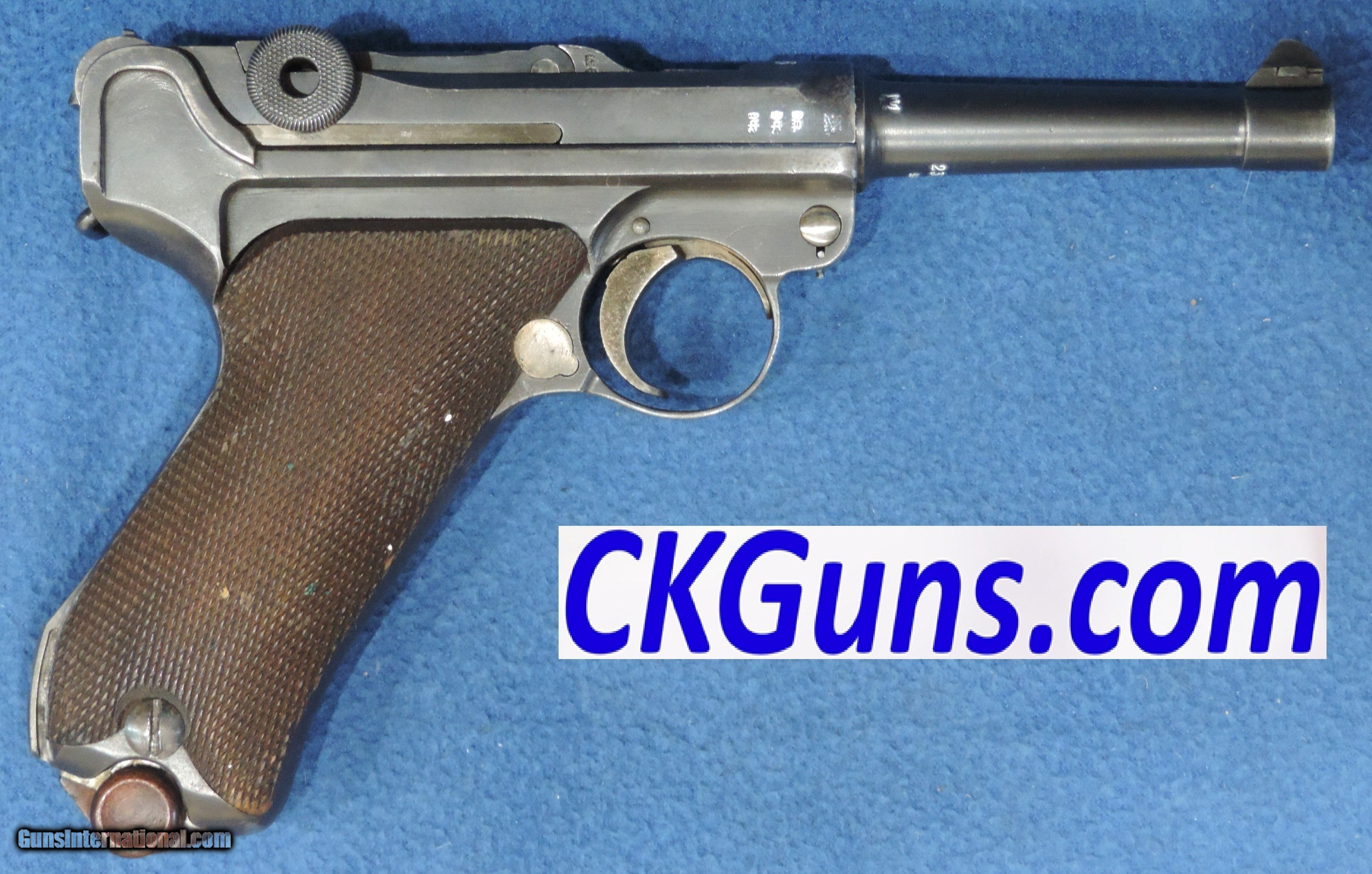 Erfurt Luger, P-08, Cal  9mm, Ser  2331, Dated 1916  for sale