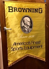 Browning Franchised Dealer Authentic Display Banner John M. Browning pre-Buckmark Genuine