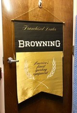 Browning Franchised Dealer Authentic Display Banner pre-Buckmark Genuine