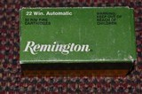 Remington 22 ammo for Winchester Model 03 Automatic