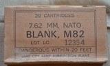 Lake City Army Ammunition Plant 7.62 Cal Blanks