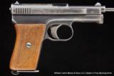 MAUSERModel 1910Semi auto pistol.25 acp (6.35mm)- 1 of 2