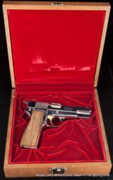 BROWNING HI POWER Centennial Edition 1878-1978 9mm Nickel in walnut presentation case - 4 of 5