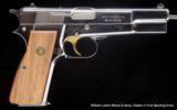 BROWNING HI POWER Centennial Edition 1878-1978 9mm Nickel in walnut presentation case - 1 of 5