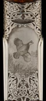 "F.LLI PIOTTI Boss type SLE O/U 28ga 29"" Best wood, Masterpiece engraving by Contessa and Castelli, Leather Cased NEW - 7 of 14"