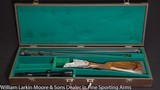 KRIEGHOFF Neptune Sidelock Ejector Two barrel Shotgun / Combination gun 16ga & 16ga / 7x65r Zeiss Scope, Leather case