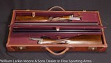 EJ CHURCHILL XXV Easy Opening True Pair 12ga Mfg 1937 cased in maker's leather case