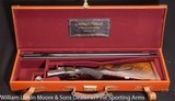 """WESTLEY RICHARDS Deluxe Droplock Ejector Express .300 Sherwood 26"""" Mfg in 1926 for the Maharja Rewa Cased in Leather case"""