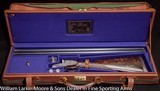 "F.LLI PIOTTI Model Monaco 3 Extra 12ga 30"" Museum quality engraving by Terzi, Best Turkish wood cased"