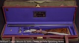 F.LLI PIOTTI Boss Type O/U Pigeon gun Best Turkish wood, Ribbons & Flowers engraving Maker's leather case with overcase