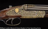 JOSEPH LANG & SON Exhibition Quality Sidelock Ejector Express .470 NE With fabulous gold line engraving Mfg 1920 for the Maharanee Holkar of Indore