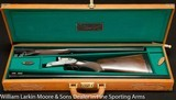 "ARMAS GARBI Model 103B Two barrel set, 25"" IC&M, 28"" M&IM, Self opener, Original leather case, Mfg 1980 - 3 of 9"
