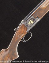 """BROWNING Superposed D2G Parcours 12ga 28"""" Briley chokes, Gold game scenes by A Bee, Mfg 1976"""
